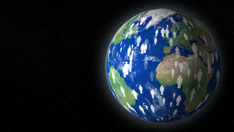 earth human overpopulation destroy planet with text space 11780 Animation