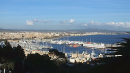 Palma De Mallorca Seen From Belver Castle - The Highest Point Of The Town Footage