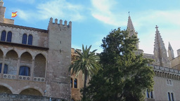 La Almudaina Palace, Palma de Mallorca Footage