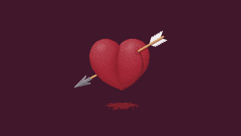 Beating of a Bleeding Heart Animation