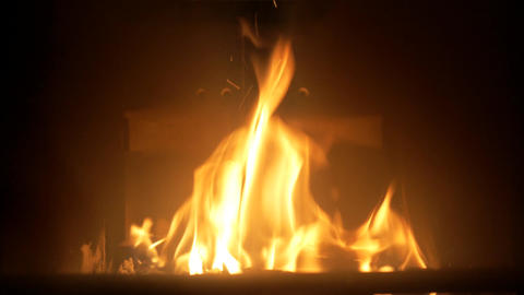 Indoor fireplace Footage