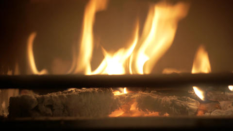 Fire at the fireplace Footage