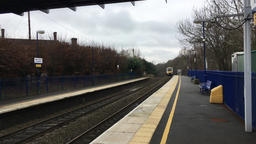 Regional English train Chiltern Railways passing through Seer Green and Jordons Footage