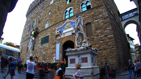 Time lapse of Palazzo Vecchio, Florence Footage