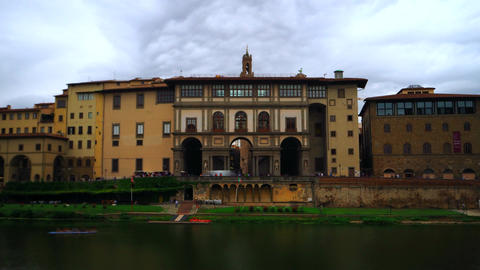 Time lapse of Uffizi Gallery, Florence Footage