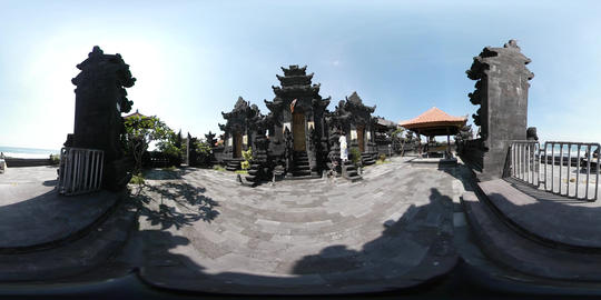 360VR video outside Temple in Pererenan, Bali Footage