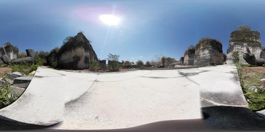 360VR video at Big Hand Statue at Garuda Wisnu Kencana, Bali Footage