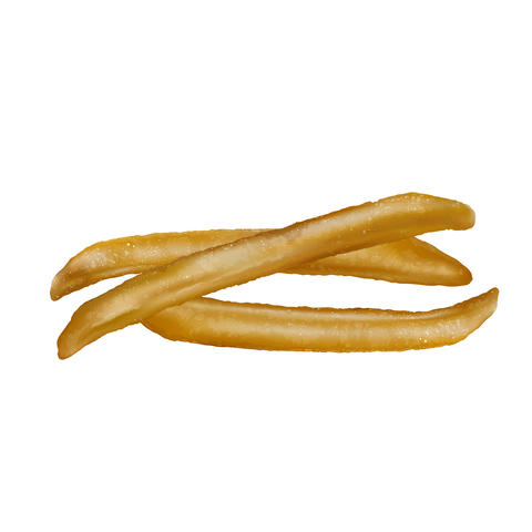 French fries on white background フォト