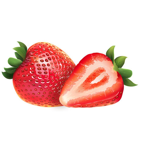 Strawberry on white background フォト