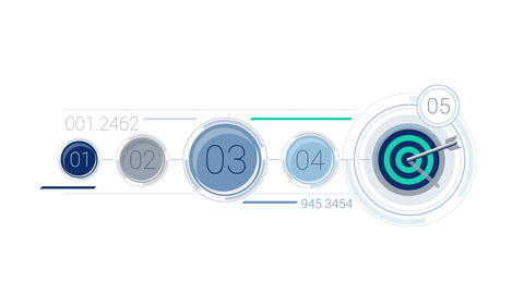 Blue Corporate Infographic Element With Alpha Channel Animation