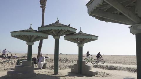 Riding Bikes Along the Coast Footage