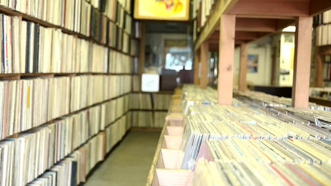 Record Store Shelves Background Footage