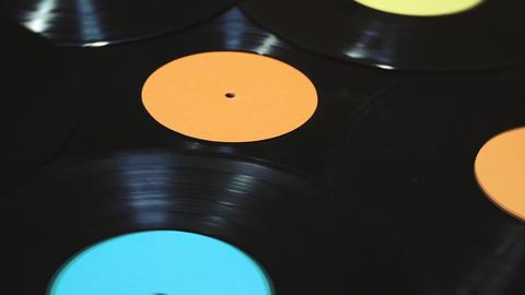 Old vinyl records Image