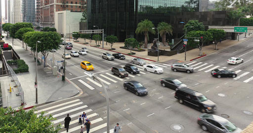 Fifth And Figueroa Intersection Timelapse Footage