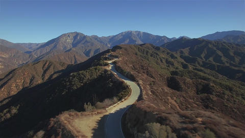 Mountain Top Windy Road Footage