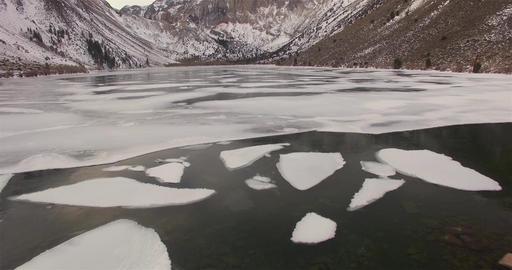 Semi Frozen Lake Footage