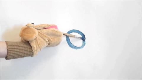 toy dog draws a circle Footage