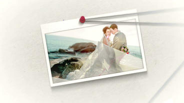 Wedding Slide & Invitation stock footage
