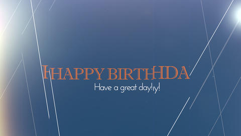 birthday title 01 Animation