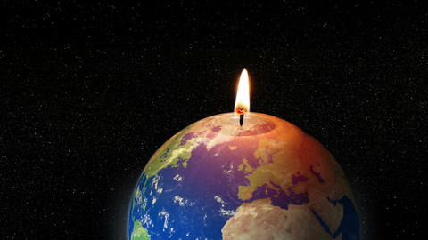 global warming earth candle animation 11782 Animation