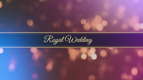 wedding title 04 Animation