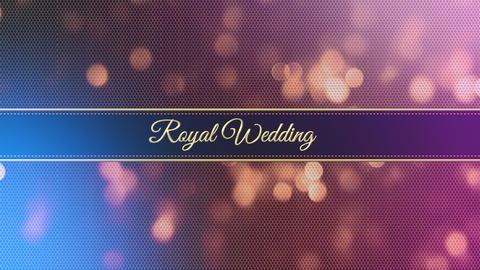 wedding title 04, Stock Animation