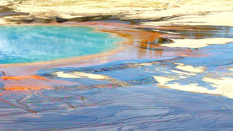 Grand Prismatic Spring Yellowstone Footage