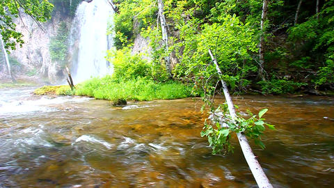 Spearfish Falls Landscape South Dakota Footage