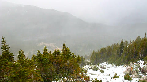 Canadian Rockies Snowstorm Footage