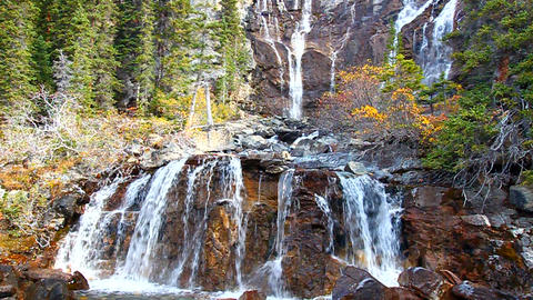 Tangle Falls Jasper National Park Footage