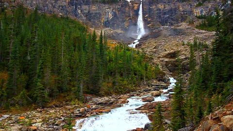 Twin Falls Yoho National Park Footage