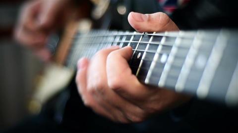 Guitarist Playing Footage