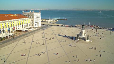 Praca do Comercio (Commerce Square) in Lisbon Footage