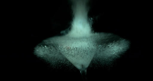 Martini Glass Explodes Closeup Footage
