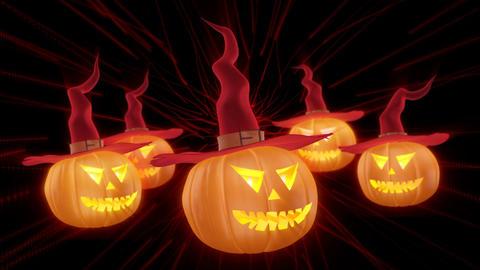 Dance Pumpkins 4K 01 Vj Loop Animation