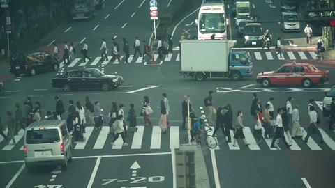 人物、通勤、ラッシュ、東京、ビジネスマン、サラリーマン、歩く、動画素材、横断歩道、足元、ハイスピード、スーパースロー、学生、通学、靴、イメージ、パーツカット、顔 ビデオ