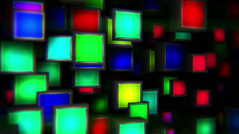 Colorful Flashing Lights Boxes Vj Loop Background Animation