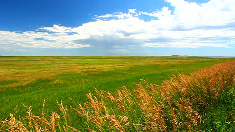 South Dakota Prairie Scenery stock footage