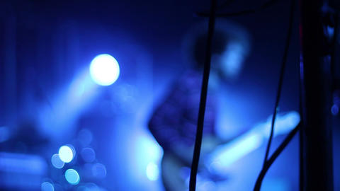 Hard Rock Guitar Player On Stage stock footage