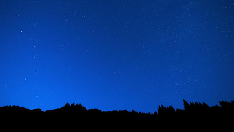 Time lapse of falling stars with a natural skyline Footage