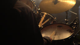 Playing drums (close-up) Footage