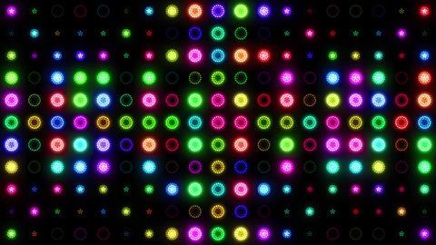 Christmas Colorful Lights Vj Loop Lights Panel Background Animation