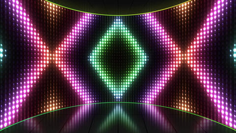 VJ Colorful Flashing Lights Stage Loop Animation