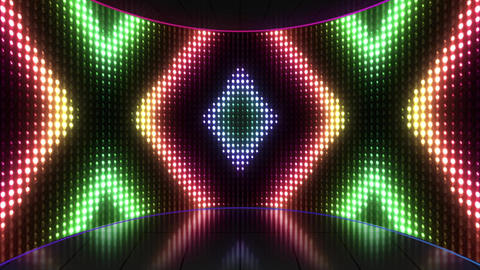 VJ Colorful Flashing Lights Stage Loop Stock Video Footage