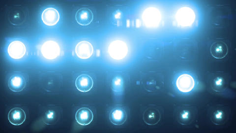 Lights Flashing Blue Spotlight VJ Light Bulb Loop Animation