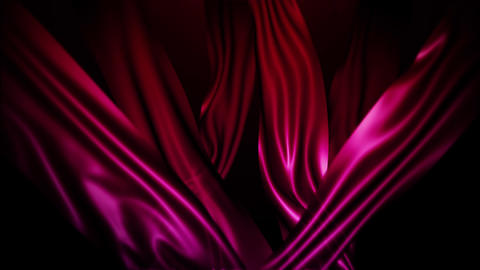 Red Silk Fabric Flying Wave Cloth Animation Background Backdrop 画像