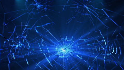 Broken Shattered Glass Background Epic Animation CG動画素材
