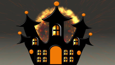 Castle Explosion at Halloween Animation