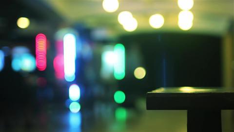 Bokeh Lights At Night Footage