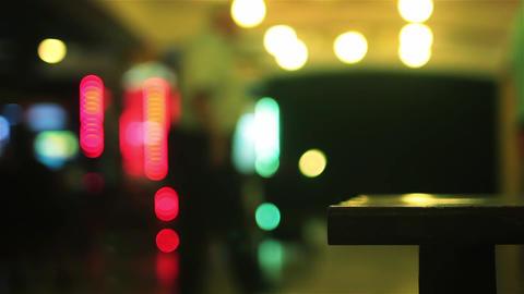 Bokeh Lights At Night Stock Video Footage
